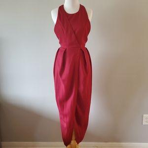 Lulu's high low halter dress red sz small